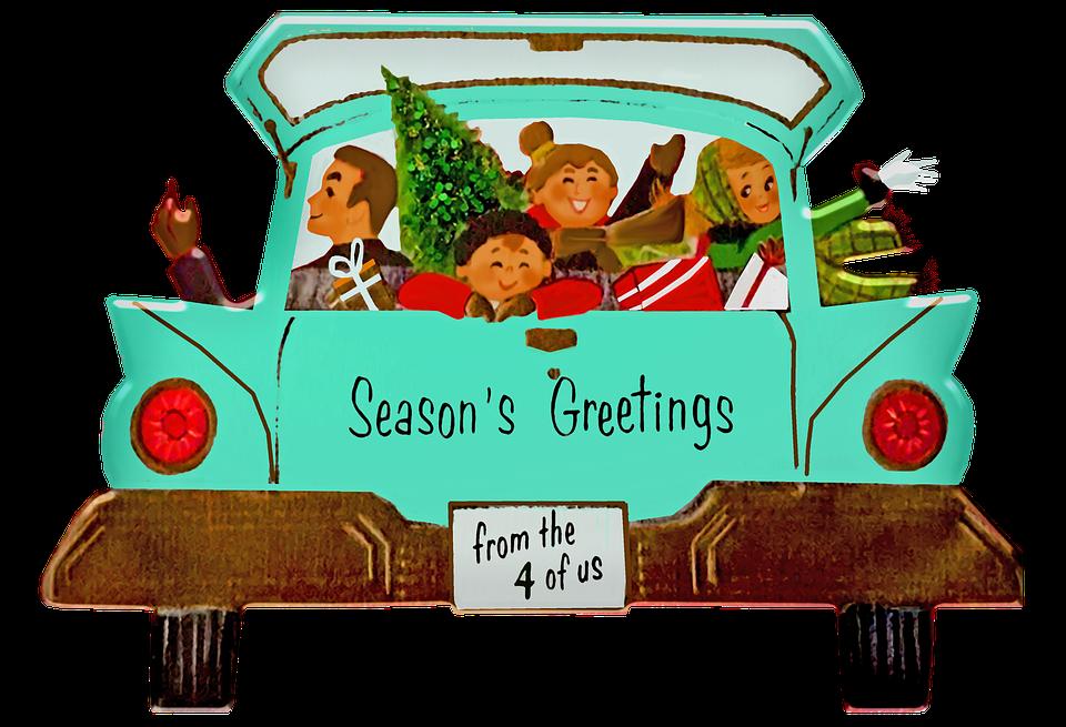 Retro Christmas Family, Family, Christmas, Retro, 1960s