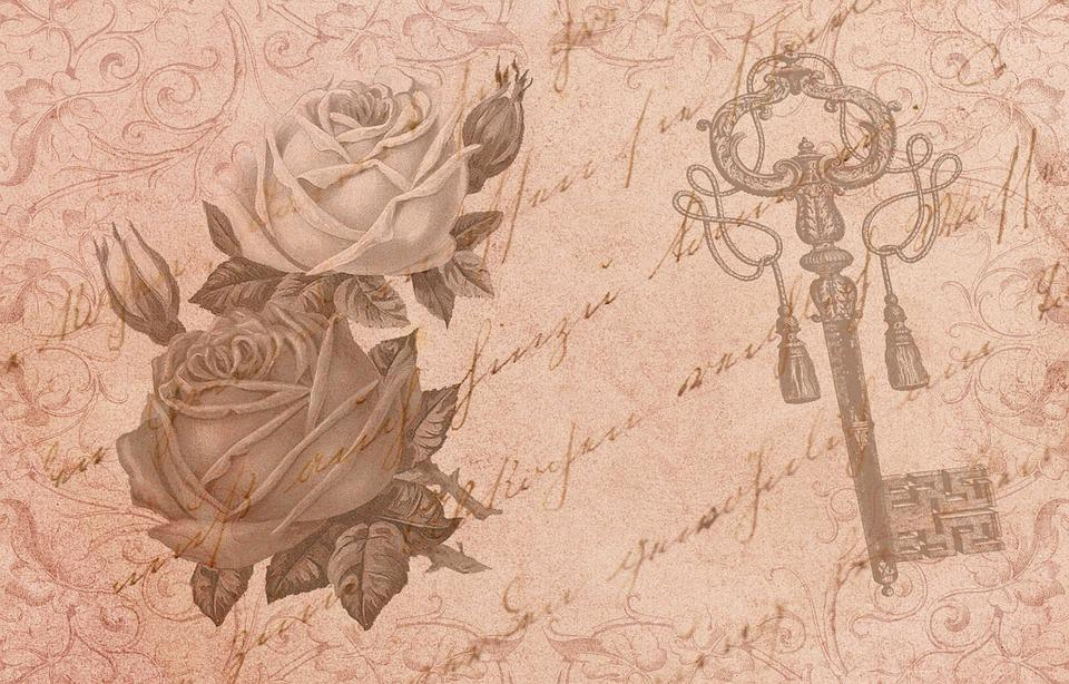 Vintage, Shabby, Retro, Flower, Scrapbook, Roses, Paper
