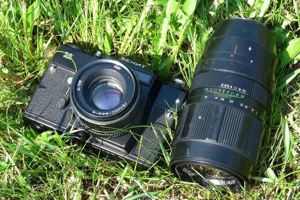 Camera, Lens, Retro, Hobby, Phototechnique