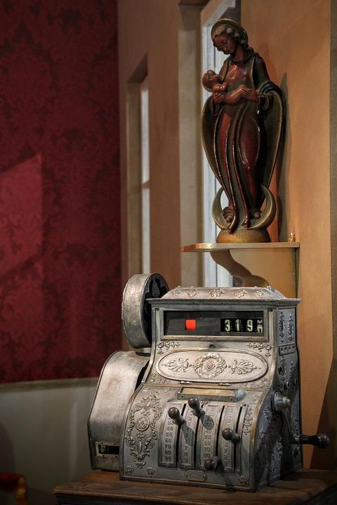 Cash Machines, Old, Checkout, Retro, Vintage, Business