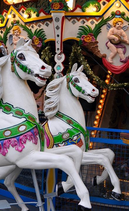 Carousel, Old, Horse, Retro, Horses