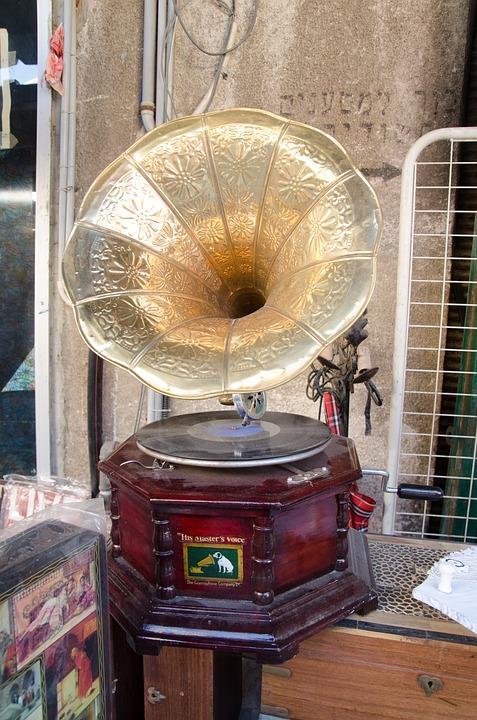 Phonograph, Antiques, Music, Old, Vintage, Retro