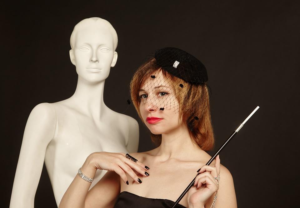 Portrait, Mannequin, Vintage, Retro, Woman, Person