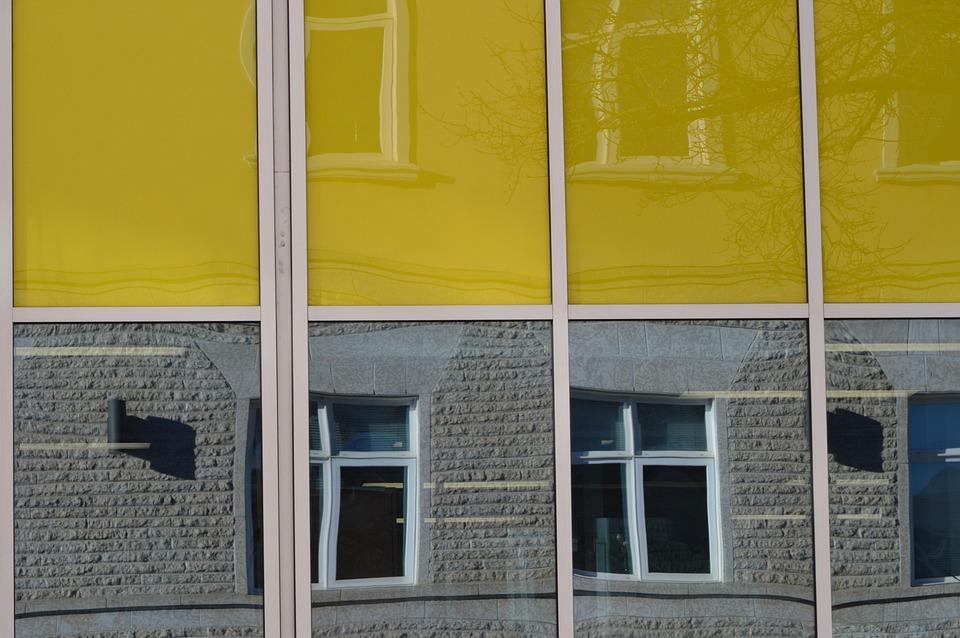 Building, Reflection, Retro, Windows, Urban, Exterior
