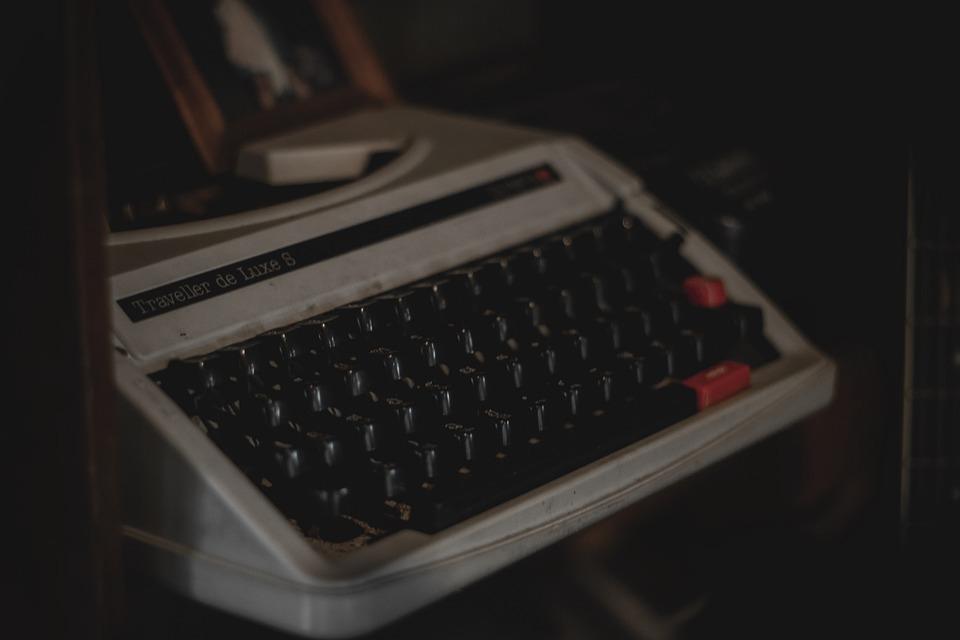 Miss, Typewriter, Antiques, Win, Vintage, Retro