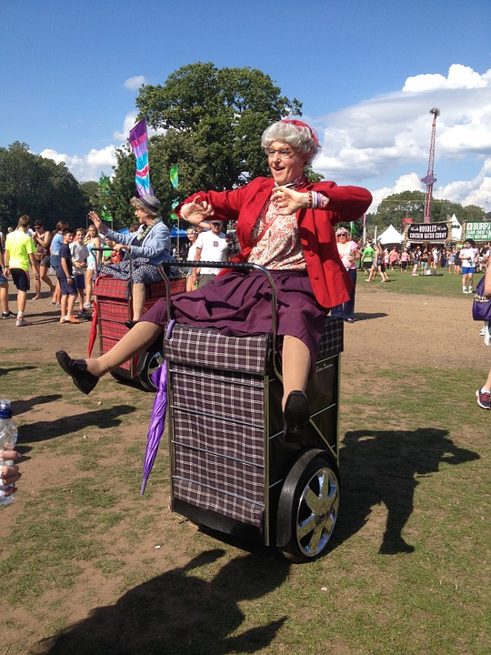 Rewind Festival, Old Lady, Costume, Music, Fun, Summer