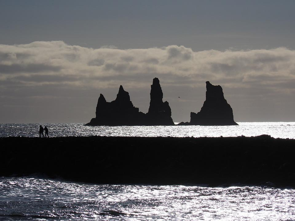 Reynisdrangar, Rock, Surf Cob, Cliffs, Rock Towers