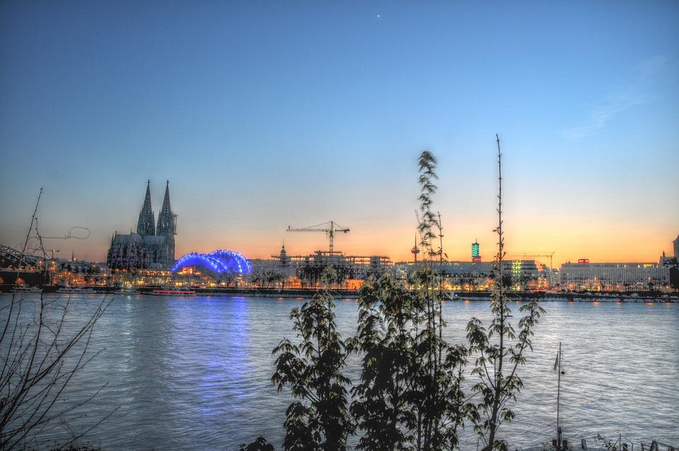 Rheinpanoram In Cologne, Rhine, Cologne, Hdr