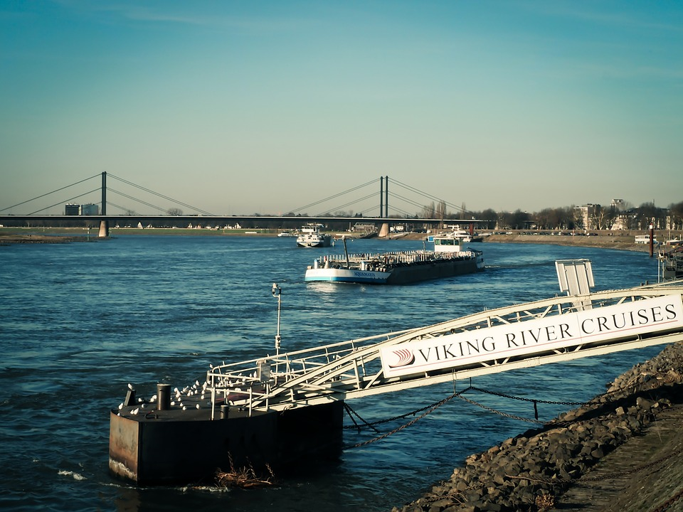Rhine, River, Water, Nature, Boats, Bank, Shipping