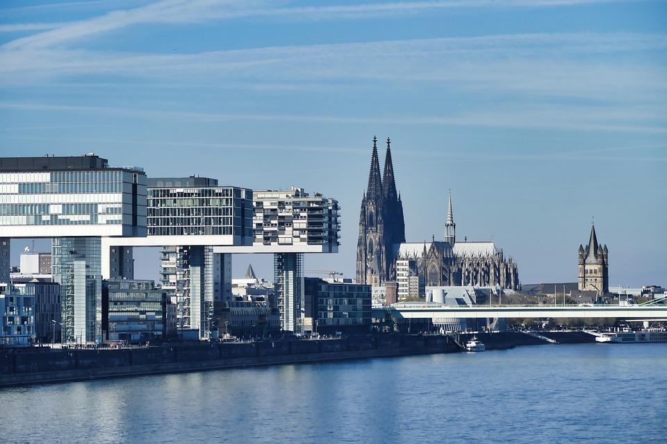 Cologne, Dom, Crane Homes, Panorama, Rhine, Germany