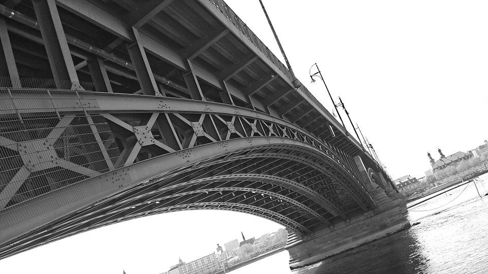 Bridge, Mainz, Steel Bridge, Rhine, Building