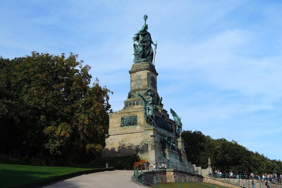 The Niederwalddenkmal, Rhine, Rüdesheim, Monument