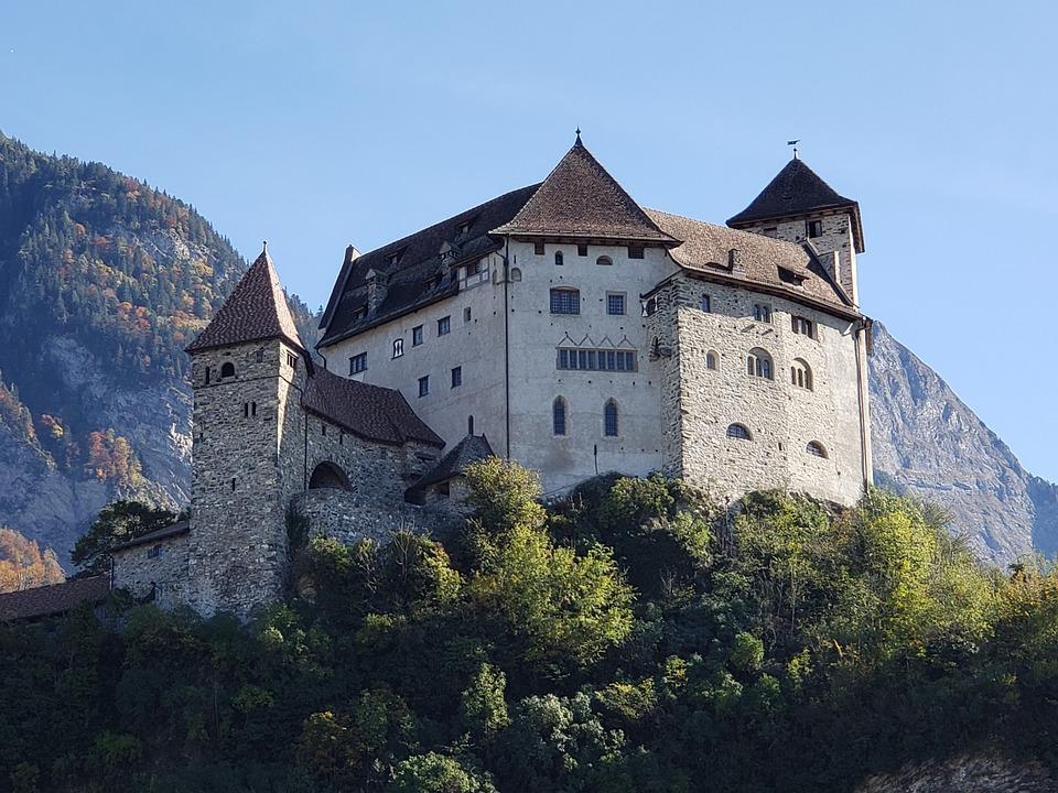 Liechtenstein, Europe, Alps, Mountains, Vaduz, Rhine