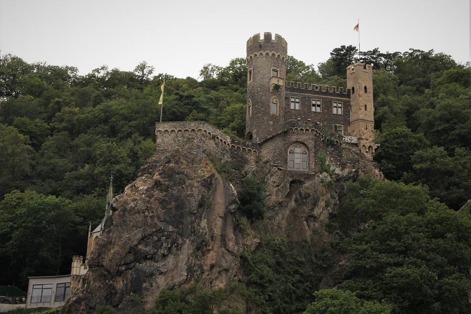 Castle, Rhine, Rhone, Germany, River, Cruise