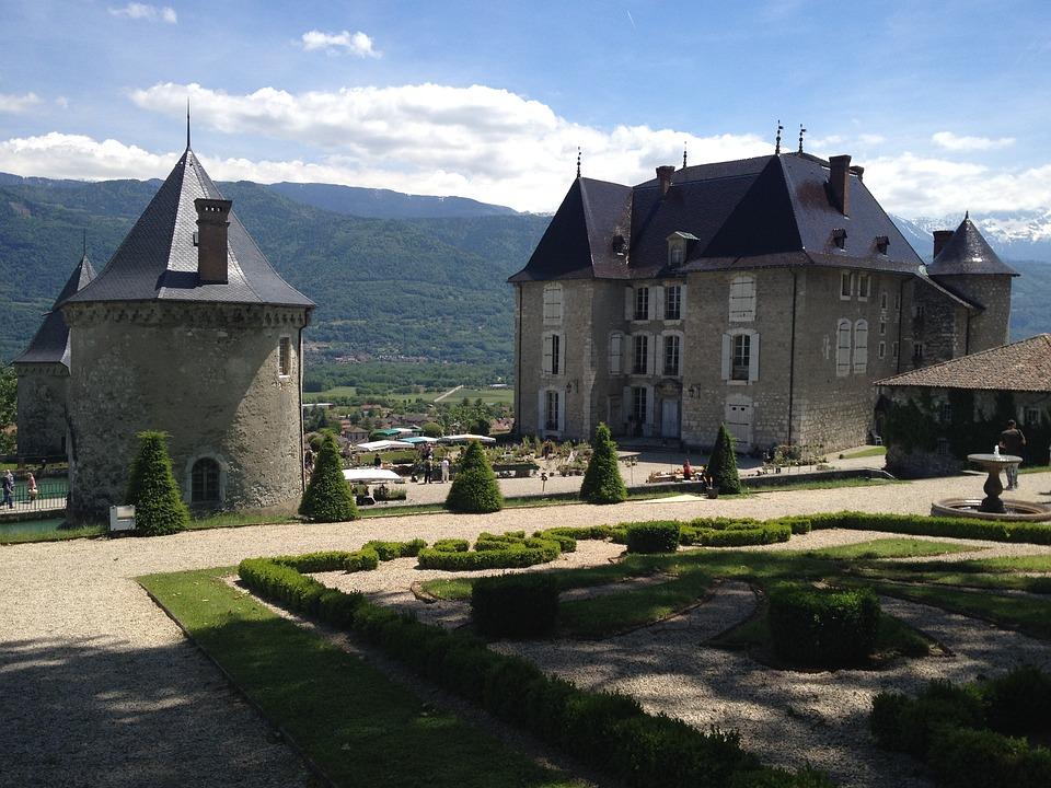 Castle, Touvet, Isère, France, Rhône-alpes Region