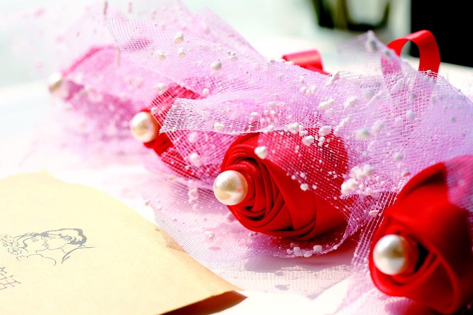 Ribbon Flower, Ribbon Rose, Gift Flowers