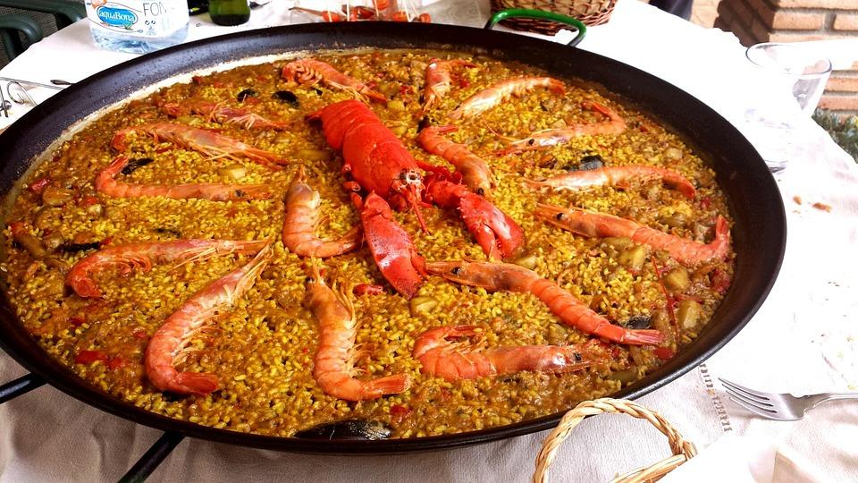 Paella, Lobster, Rice