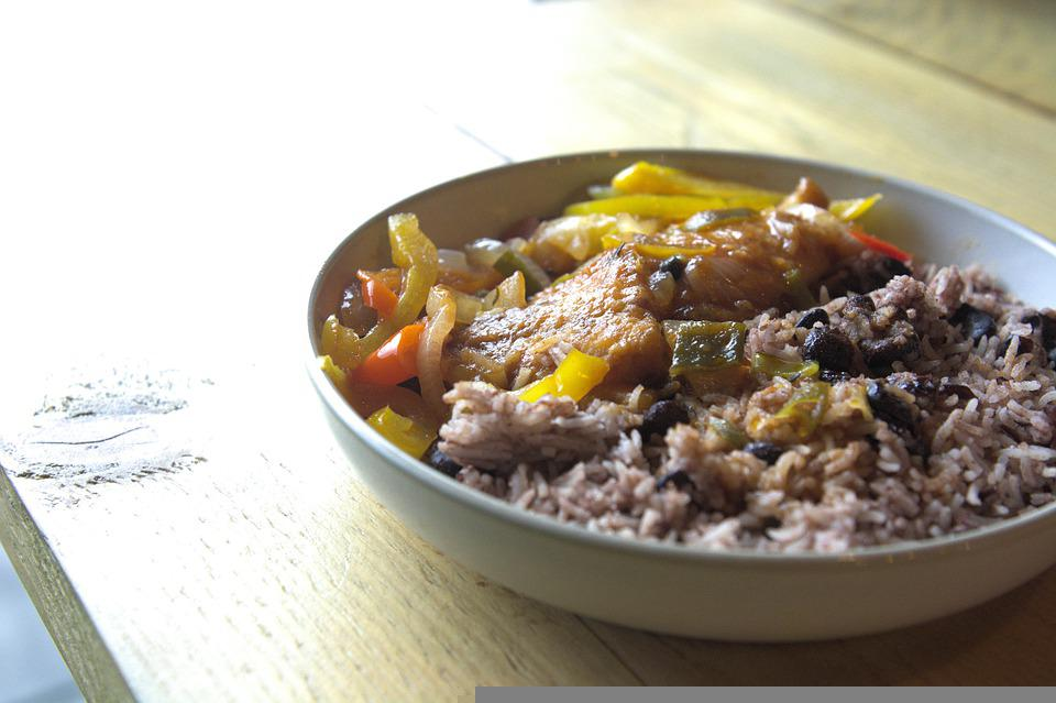 Rice, Fish, Sauce, Pepper, Food, Caribbean, Restaurant