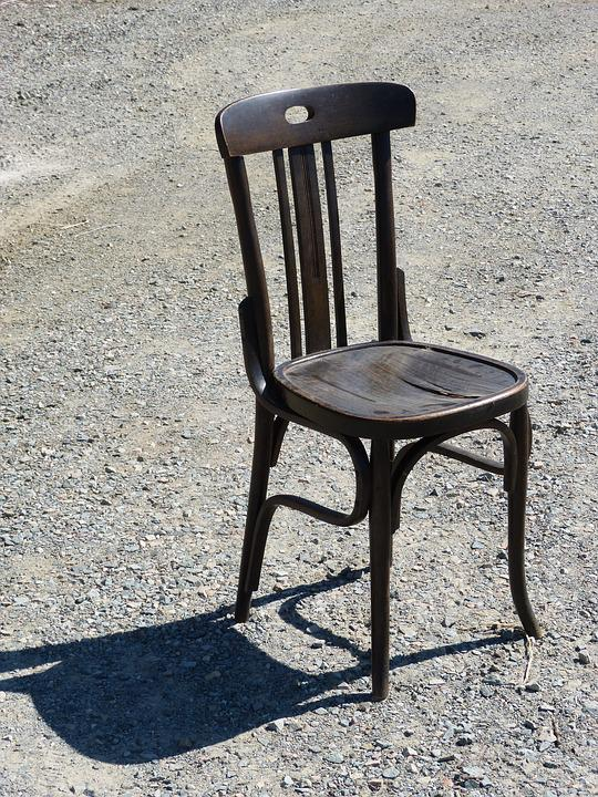 Chair, Symbol, Old, Rickety, Wilderness, Soledad