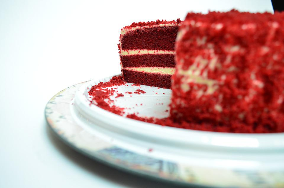 Cake, Cream, Food, Rico, Sweet, Dish, Red, Portion