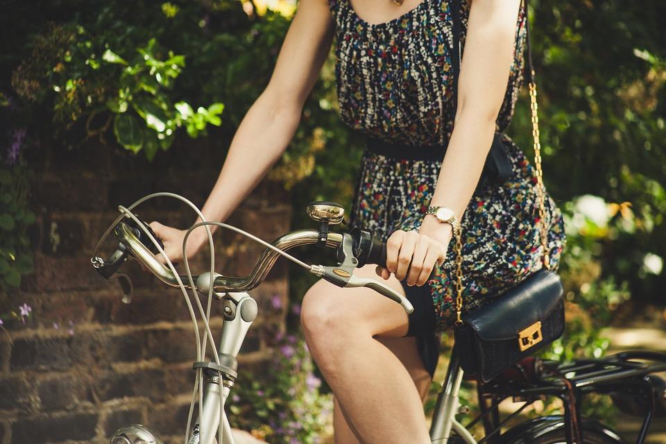 Girl, Bicycle, Ride, Bicycle Ride, Woman, Dress