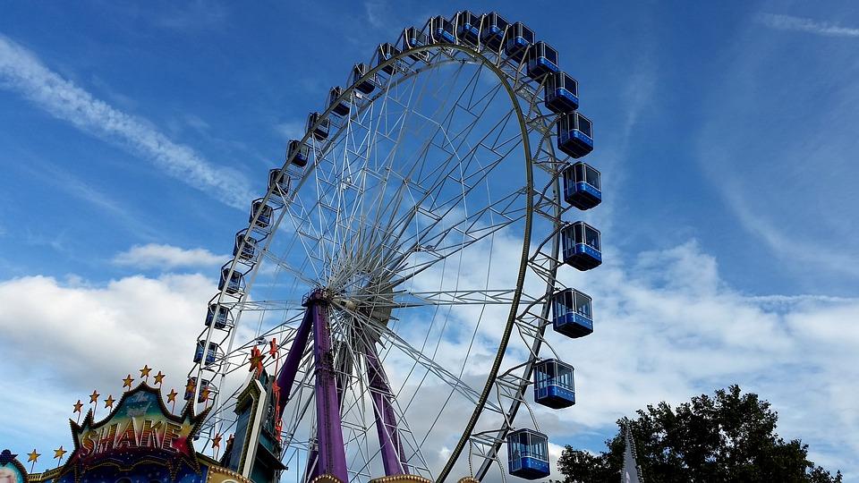 Festival, Ferris Wheel, Festive, Round, Ride, Park