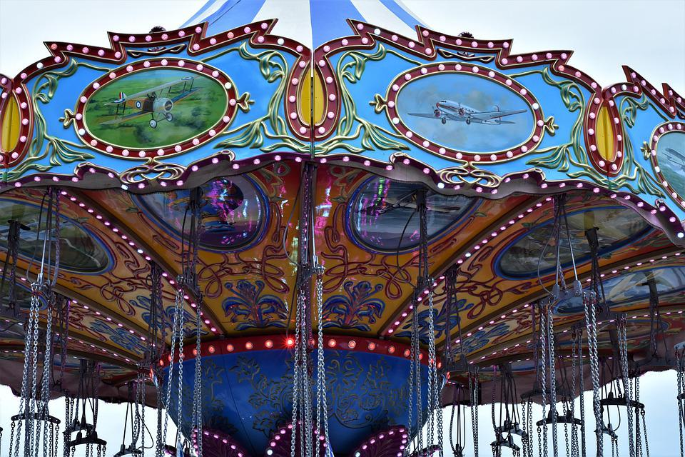 Carousel, Folk Festival, Kettenkarusell, Ride