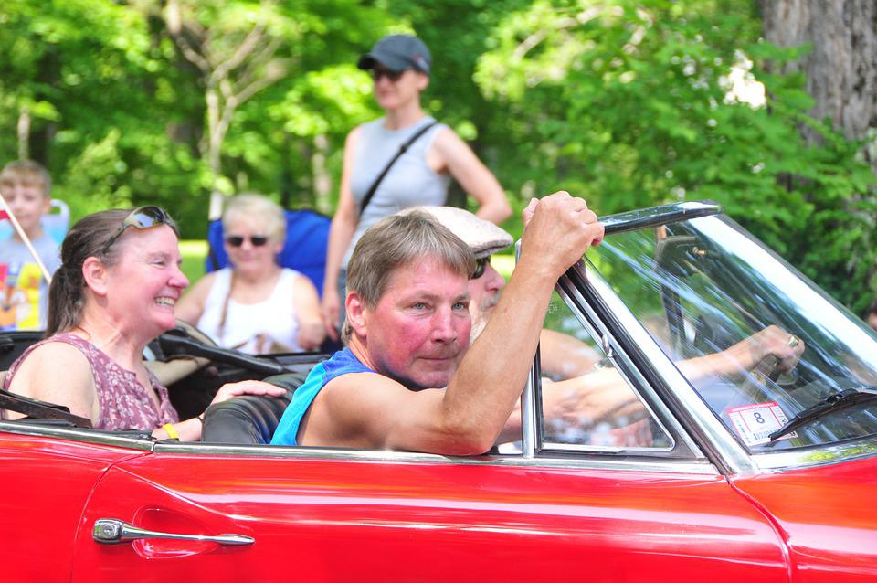 Seniors, Ride, Car, Elderly, Old, Aged, People, Vehicle