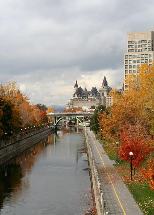Chateau Laurier, Ottawa, Rideau Canal, Canal, Castle
