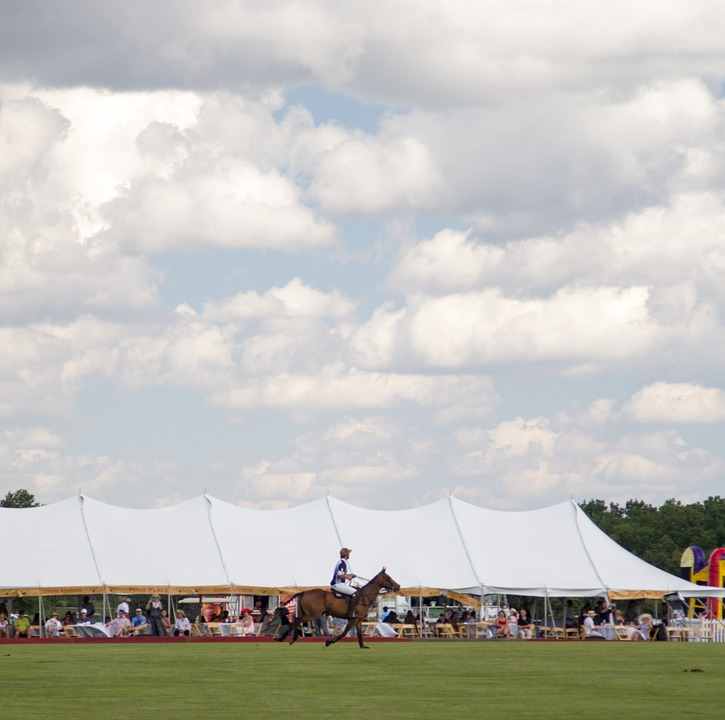 Polo, Clouds, Horse, Rider, Summer, Sky, Color, Alive