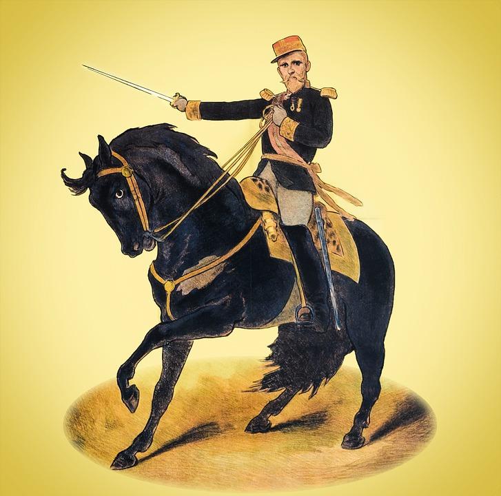 Guy, Man, Soldier, Horse, Sword, Statue, Fighter, Rider