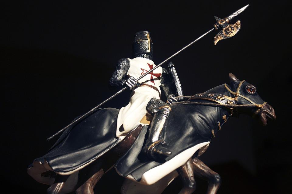 Knight, Crusader, Warrior, Rider, The Figurine