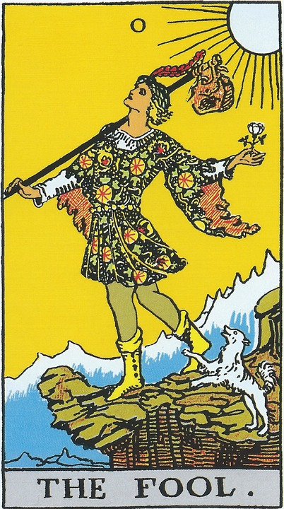 The Fool, Tarot, Major Arcana, Rider Waite