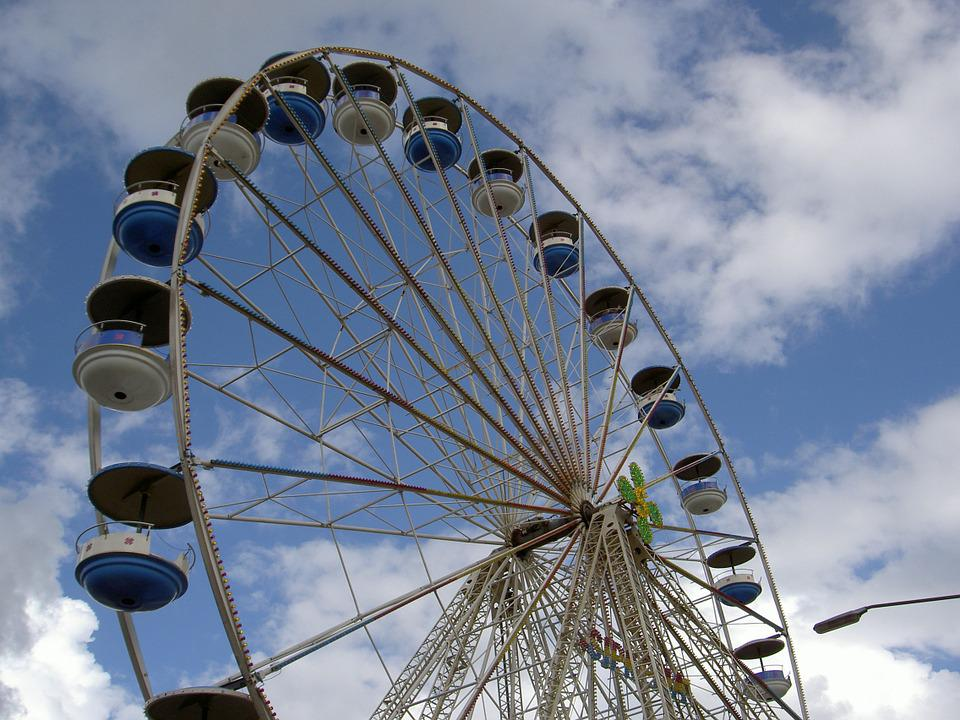 Ferris Wheel, Fair, Sky, Year Market, Carousel, Rides