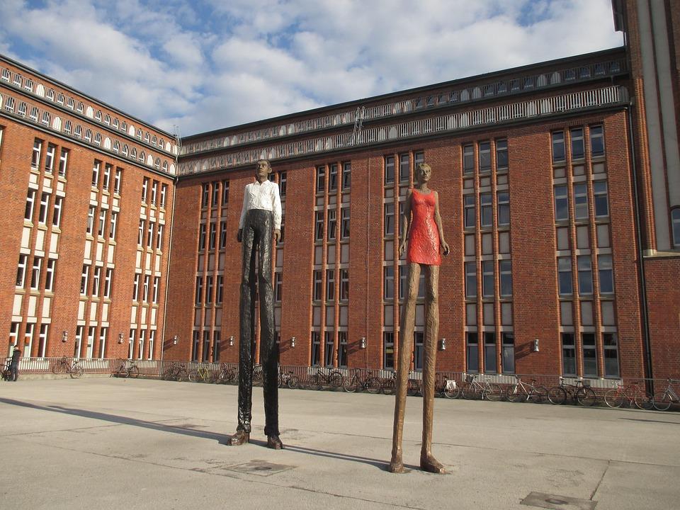 Riesen, Sculpture, Hühnerposten, Hamburg, Figures