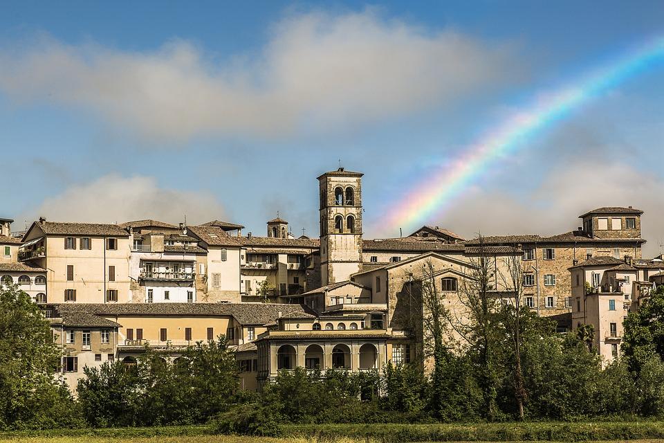 Rieti, City, Rainbows