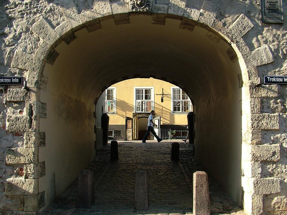 Latvia, Riga, Sweden Gate