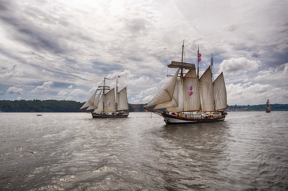 Sailing Ships, Sea, Water, Rigging, Travel, Coast