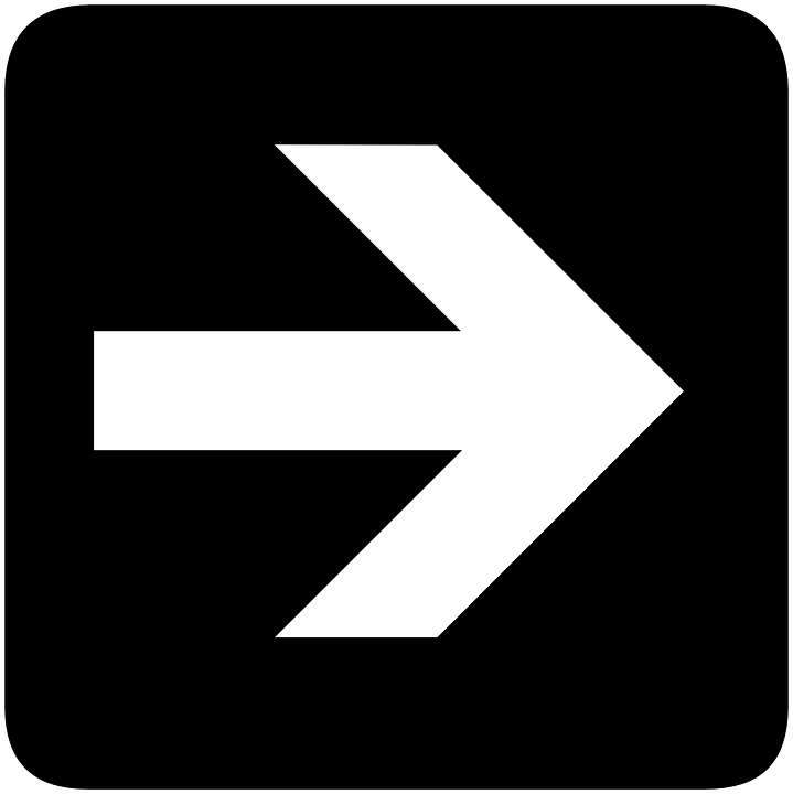 Right, Arrow, Direction, Information, Side, Sign