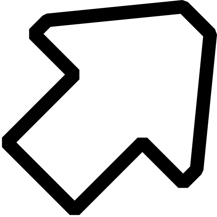 Arrow, Right, Up, Pointing, Sign, Symbol, Icon