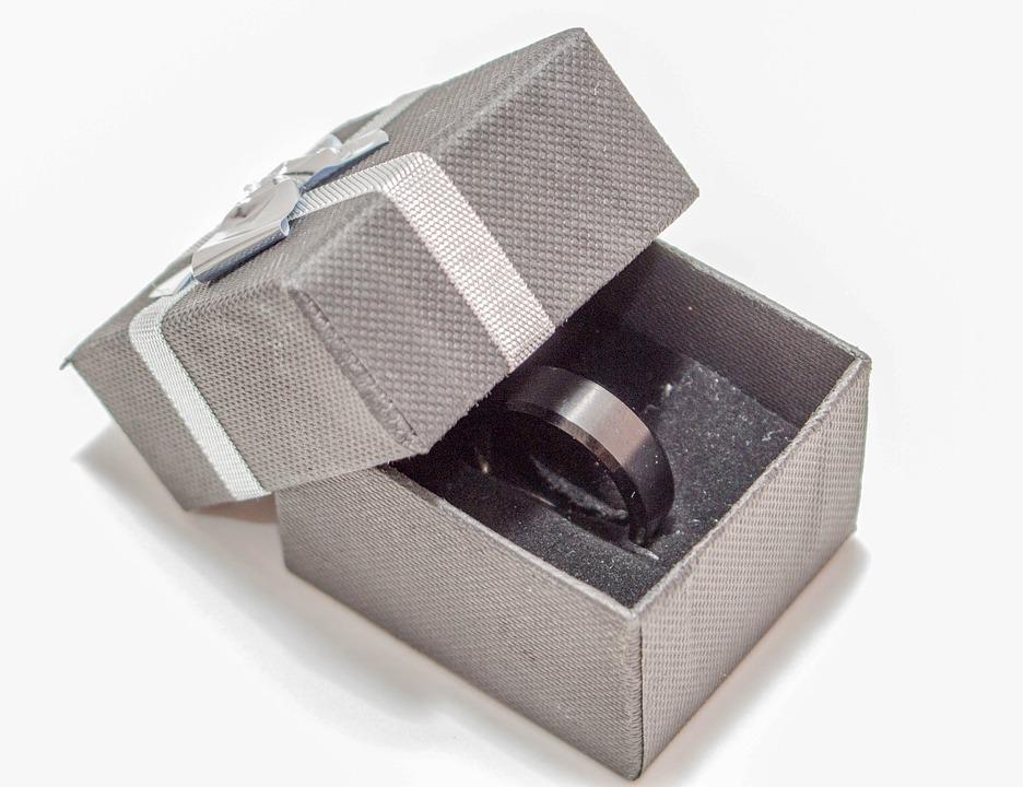 Box, Isolated, Packaging, Ring, Gift