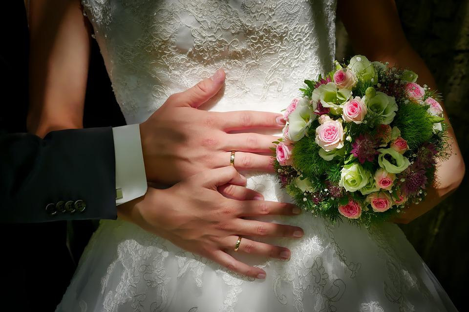 Bride And Groom, Wedding, Groom, Human, Flower, Ring