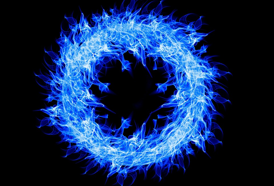 Ring Of Fire, Circle, Blue, Fire, Flame, Artwork, Hot