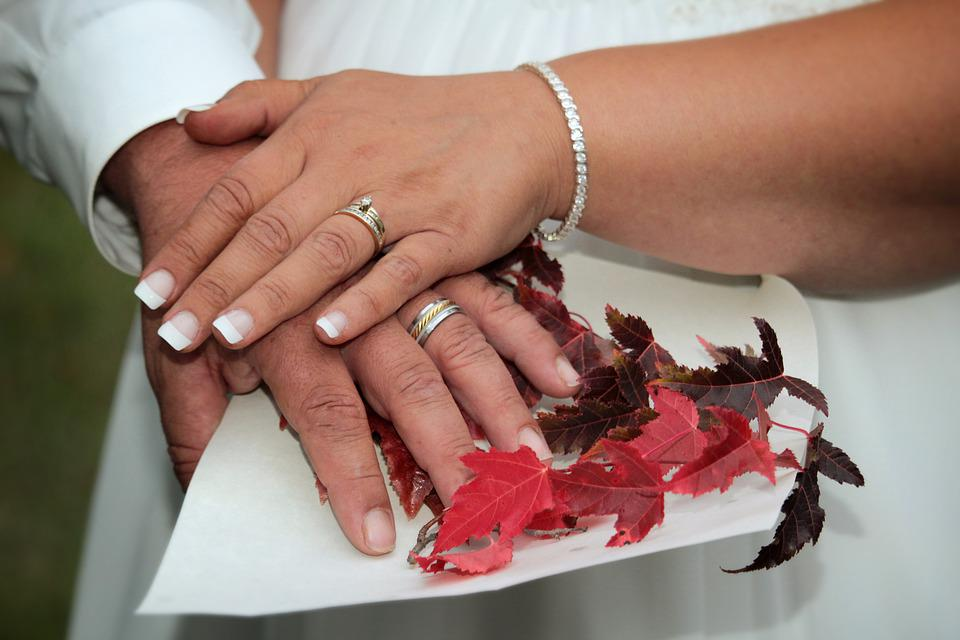 Wedding, Hands, Rings, Couple, Romantic, Marriage