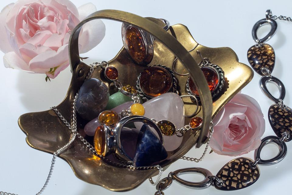 Jewellery, Rings, Earrings, Roses, Shell