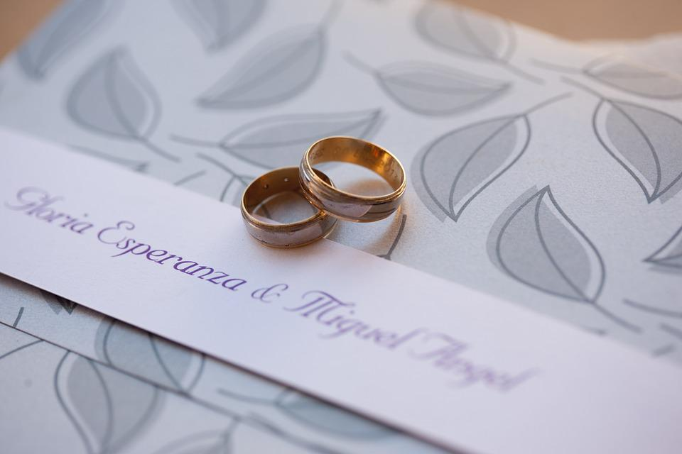 Rings, Marriage, Wedding, Card