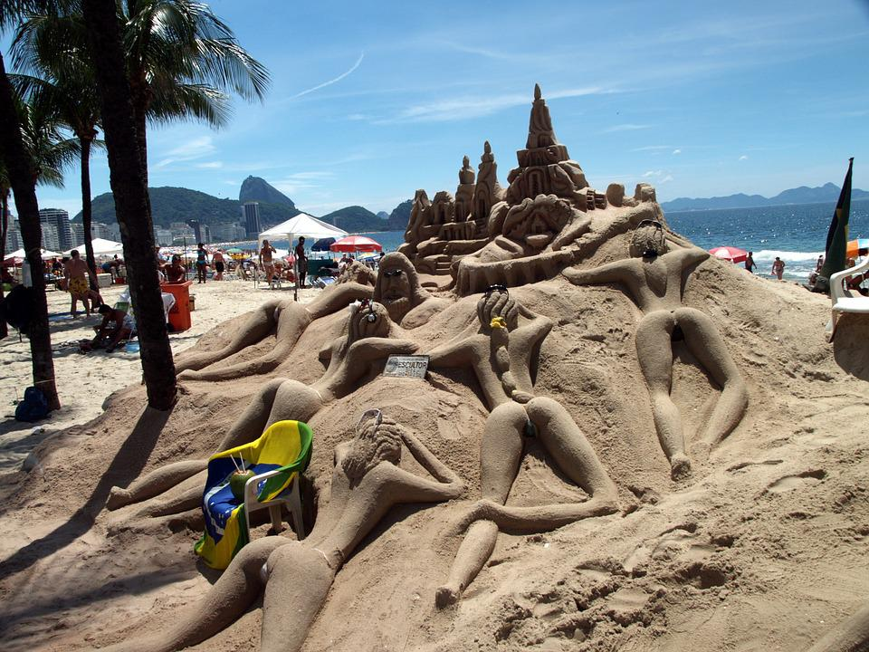 Brazil Copa Cabana Rio De Janeiro Beach Art