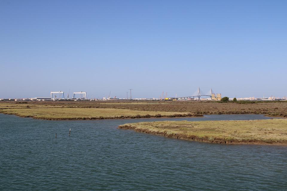 The Port Of Santa Maria, Park, River, Rio San Pedro