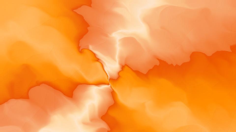 Orange, 3d, Background, Design, Water, Ripple, White