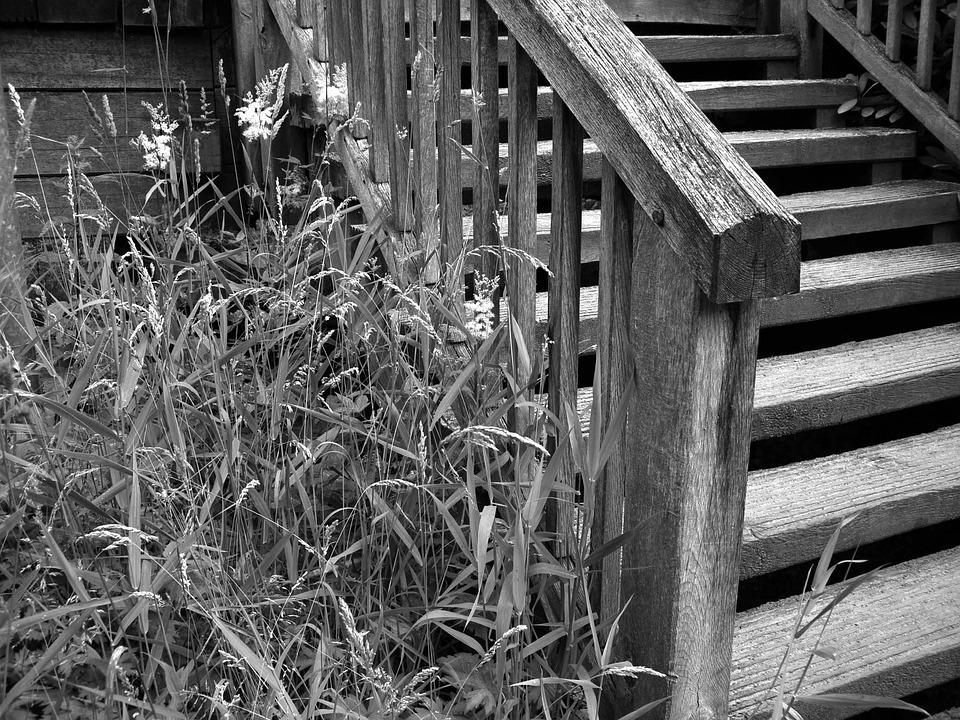 Stairs, Gradually, Black White, Staircase, Rise